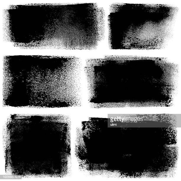 grunge design elements. paint roller strokes - rough stock illustrations, clip art, cartoons, & icons
