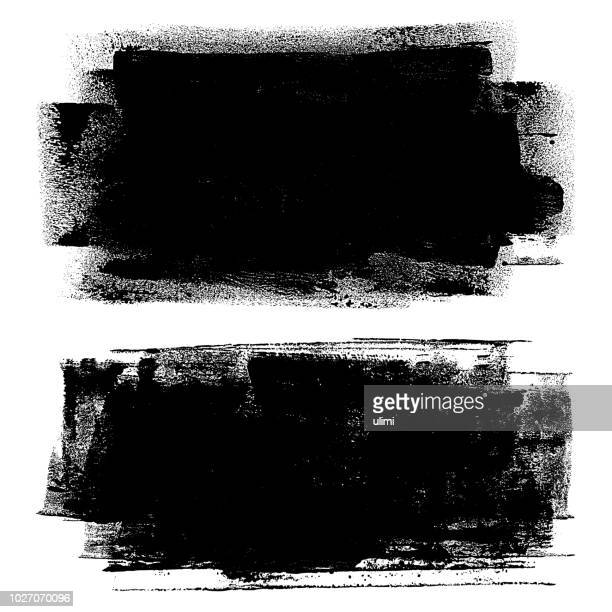 grunge design elements. paint roller strokes - faded stock illustrations