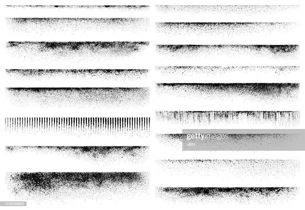 Elementi di design Grunge, bordi texture : Illustrazione stock