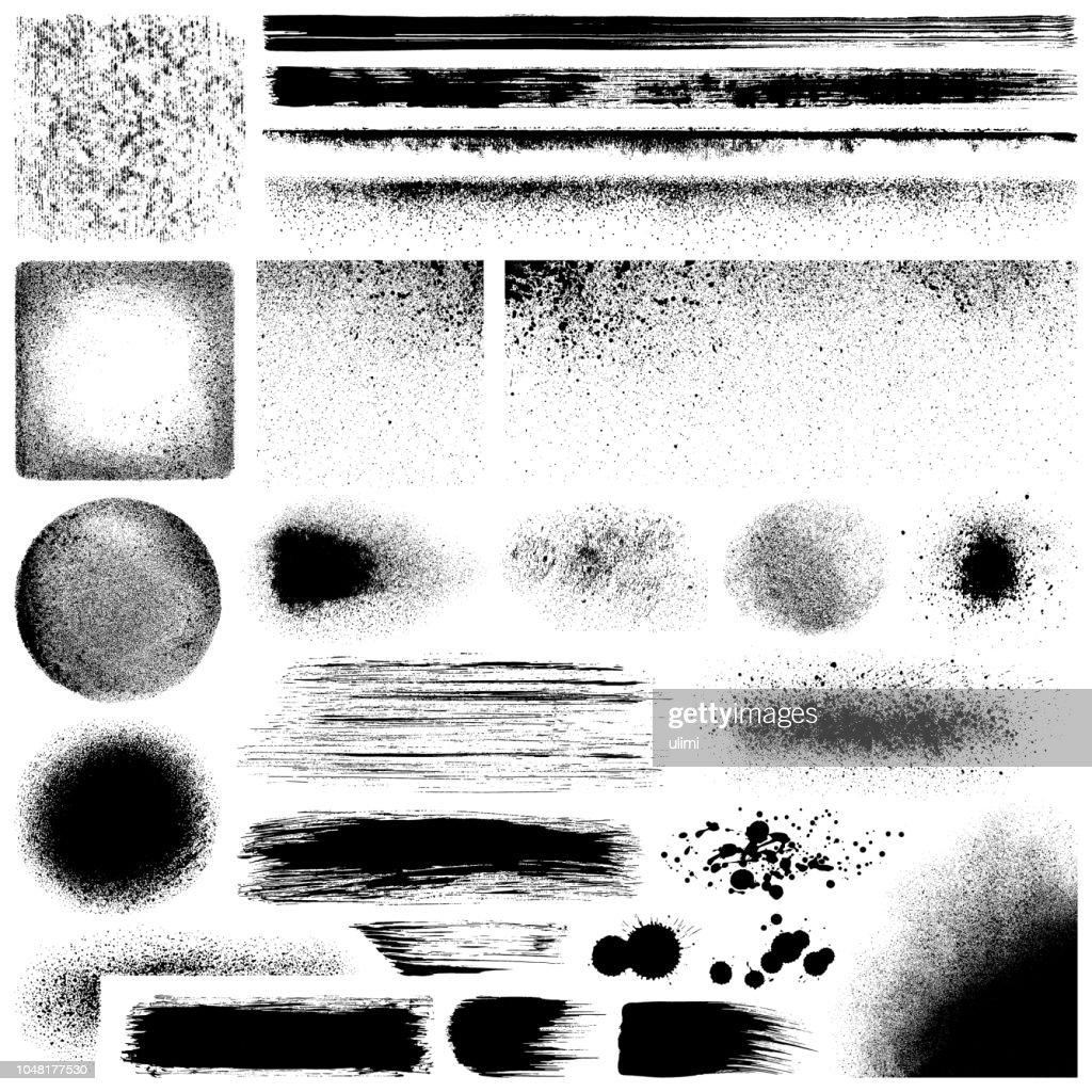 Grunge design elements : stock illustration