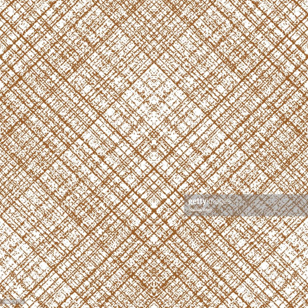 Grunge diagonal crossing stripes seamless pattern. Vector illustration
