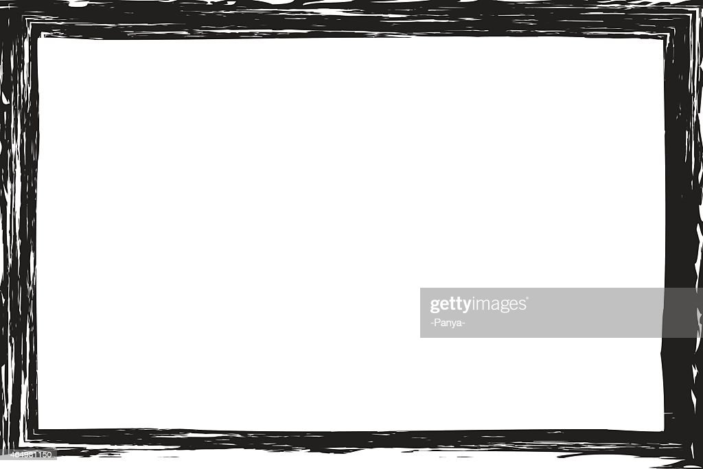 Grunge, distressed, rough frame or border