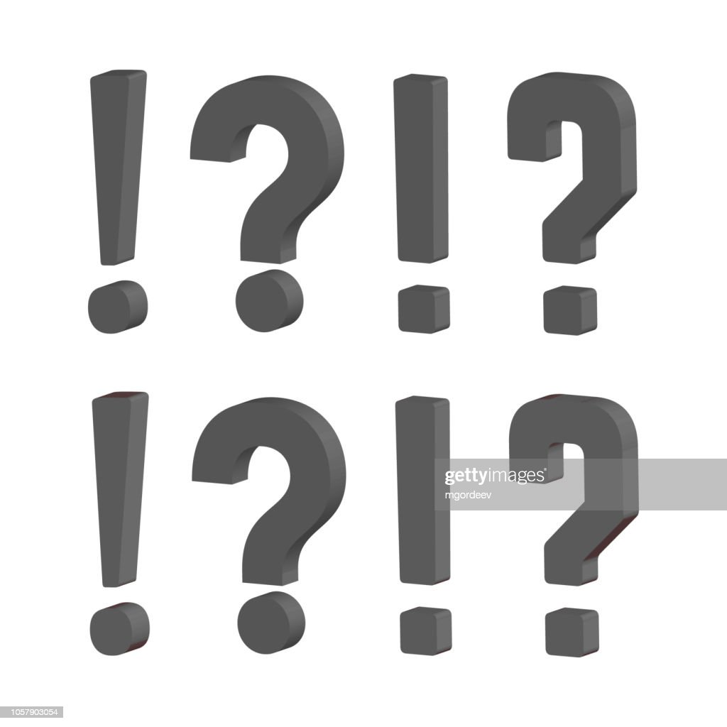 Grunge doodle sketch question marks. Exclamation marks vector illustration