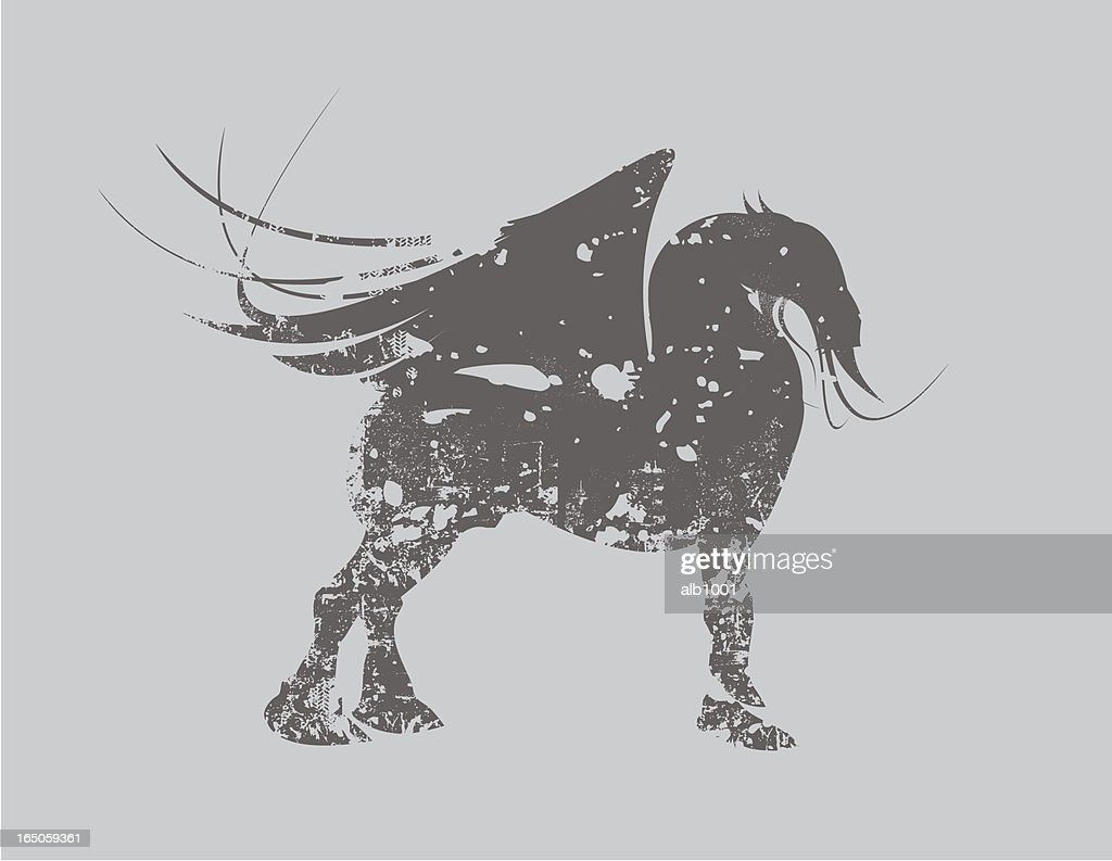 Grunge Dragon Horse