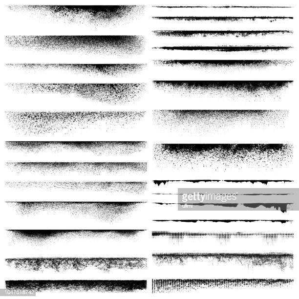 grunge edges - half tone stock illustrations