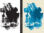 Grunge element: Decalcomania n°1 (Blue)