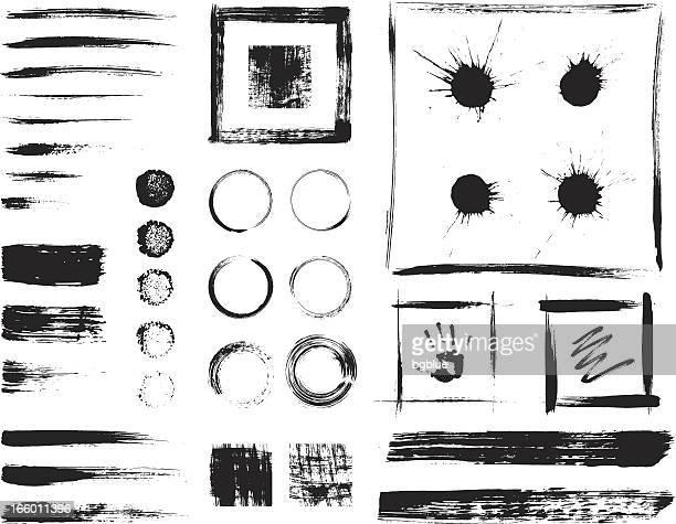 grunge-elementen - ausrüstung und geräte stock-grafiken, -clipart, -cartoons und -symbole