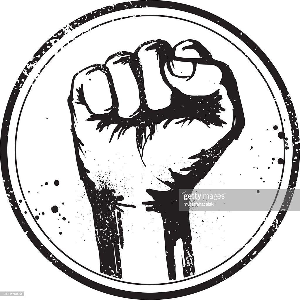 Grunge fist stamp