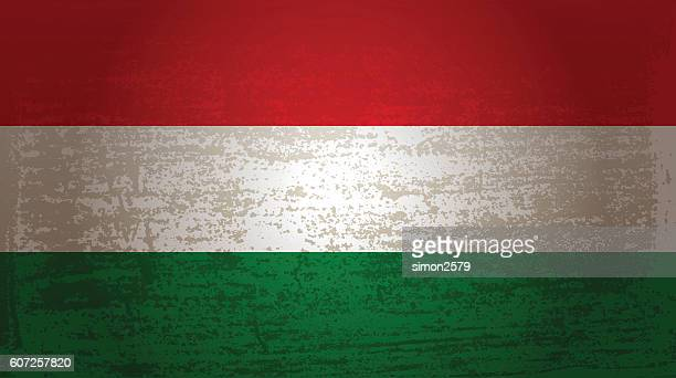 Grunge flag of Hungary