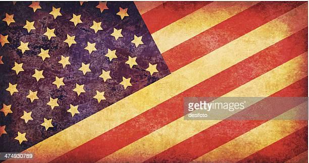 usa grunge flagge - us kultur stock-grafiken, -clipart, -cartoons und -symbole