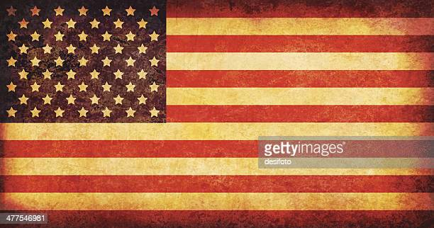 usa grunge flag - faded stock illustrations, clip art, cartoons, & icons