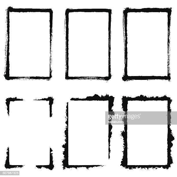 grunge frame set - funky stock illustrations