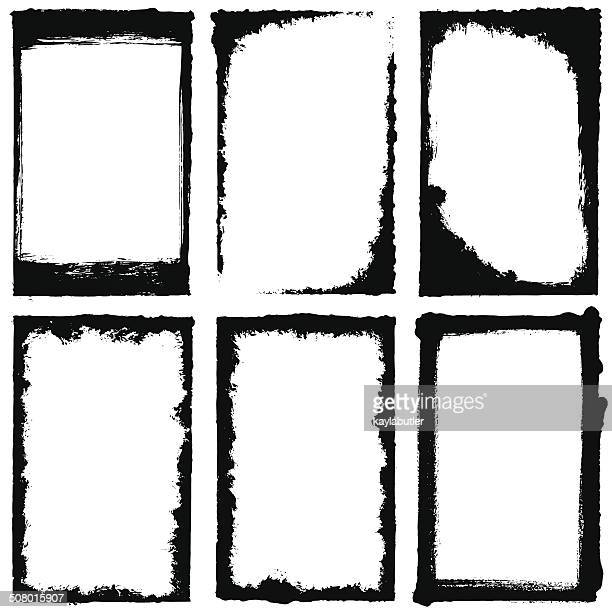grunge frame set - stage set stock illustrations