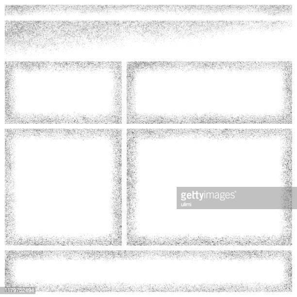 グランジフレームとエッジ - 黒枠点のイラスト素材/クリップアート素材/マンガ素材/アイコン素材