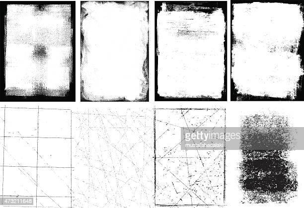 grunge frames and textures - faded stock illustrations, clip art, cartoons, & icons