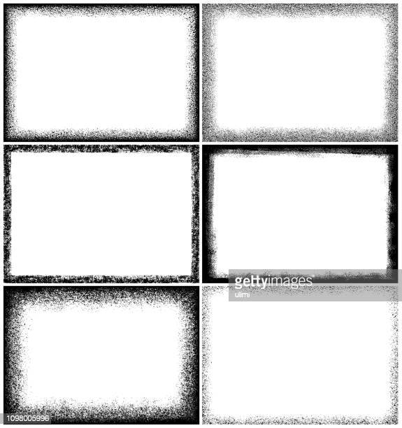 grunge frames - vertical stock illustrations