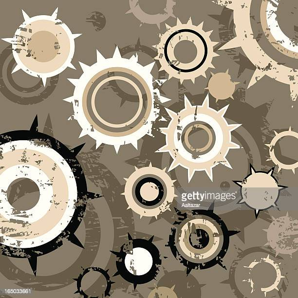 grunge gears background - spiked stock illustrations, clip art, cartoons, & icons