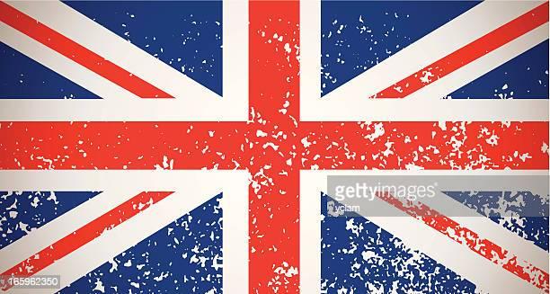 illustrations, cliparts, dessins animés et icônes de grunge drapeau de la grande-bretagne - drapeau anglais