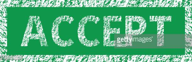 grunge green accept word square rubber seal stamp - validation stock illustrations, clip art, cartoons, & icons