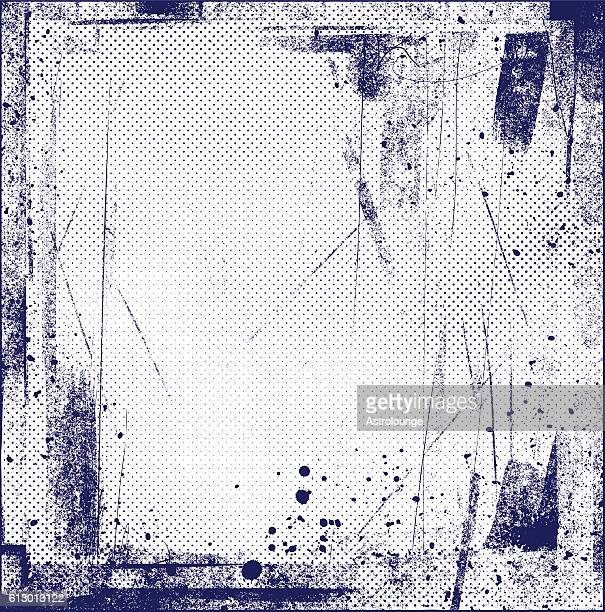 grunge halftone background - silk screen stock illustrations