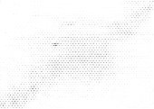 Grunge halftone texture background. Monochrome abstract vector overlay
