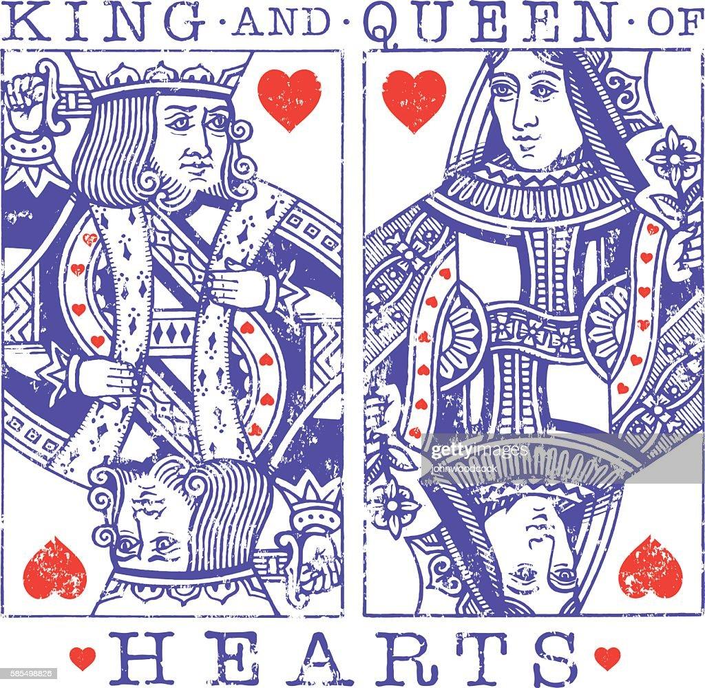 Grunge hearts illustration : stock illustration