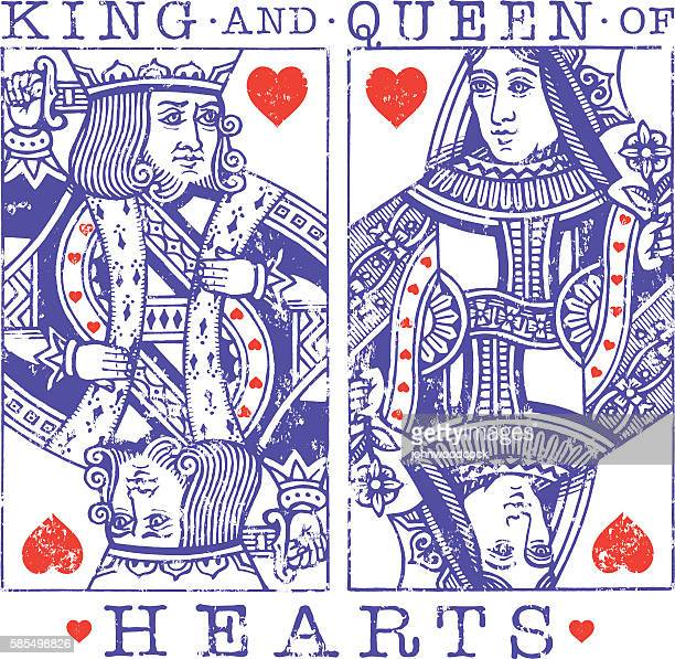 grunge hearts illustration - queen royal person stock illustrations
