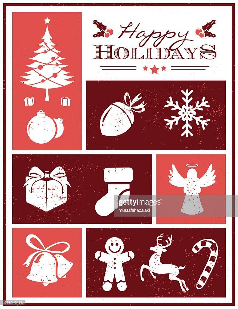 Grunge holiday seasons card