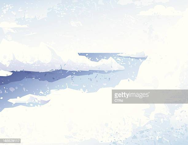 grunge icescape - high key stock illustrations, clip art, cartoons, & icons