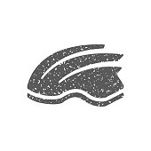 Grunge icon - Bicycle helmet