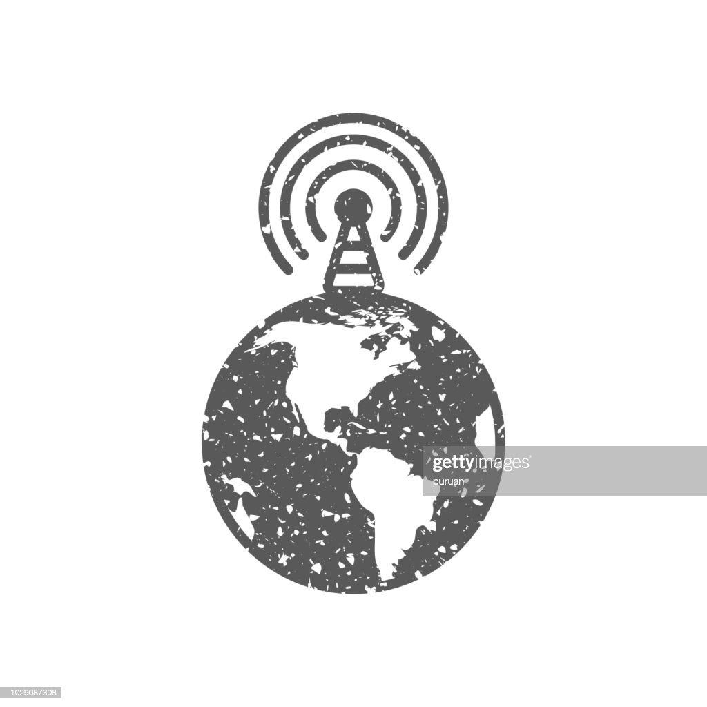 Grunge icon - Globe podcast