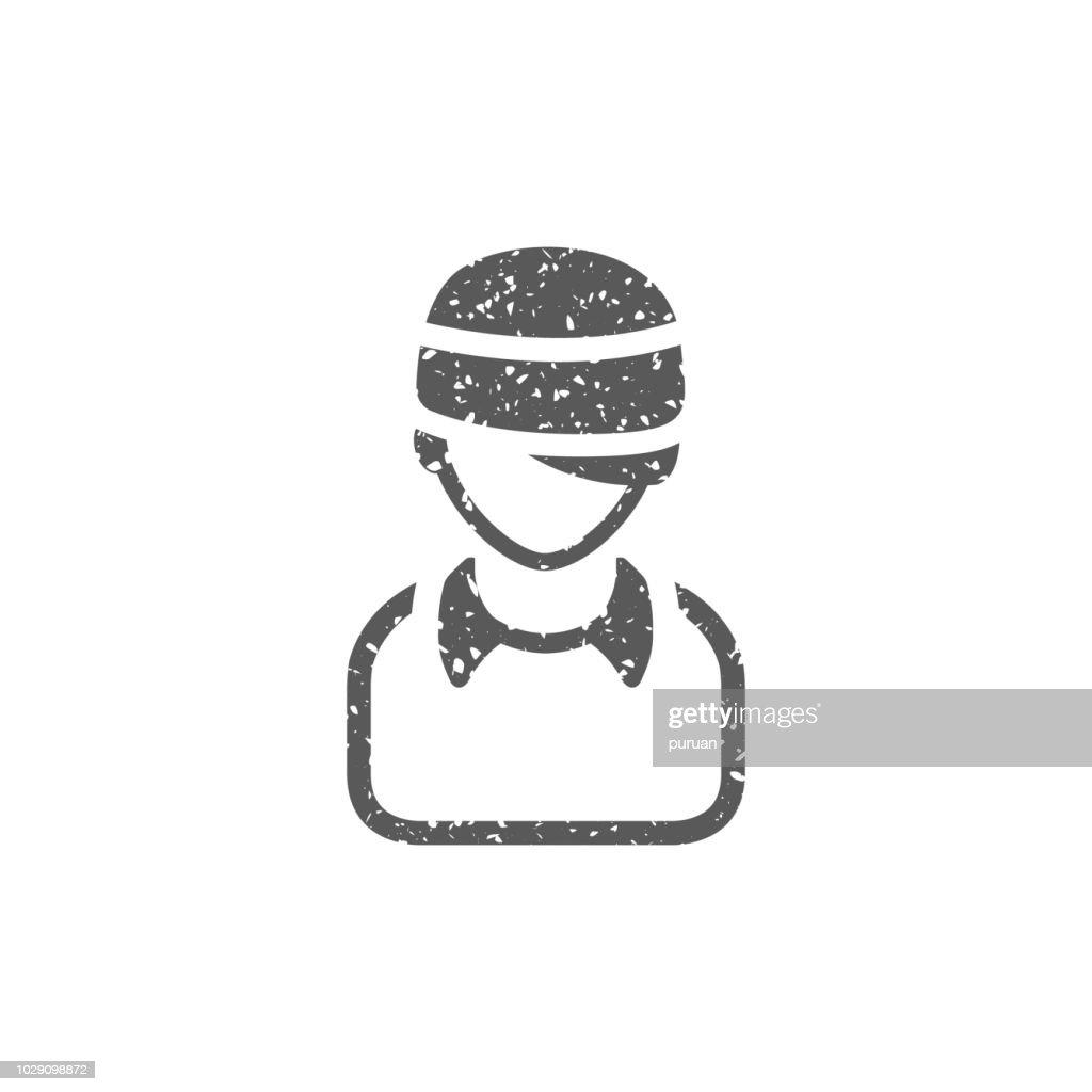 Grunge icon - Injured head
