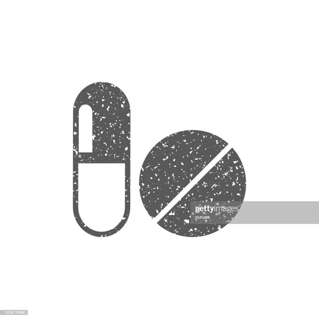 Grunge icon - Pills