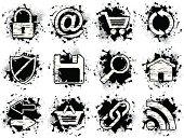 grunge icons - internet