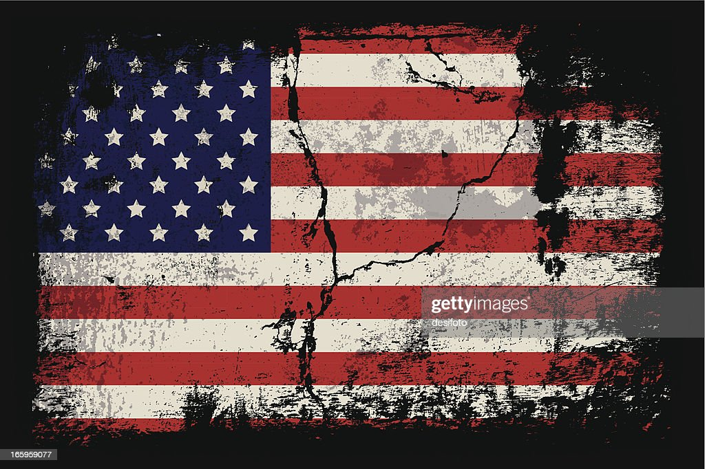 Grunge illustration of the American flag