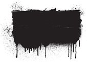 grunge inky black banner