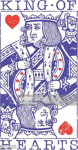 Grunge King of Hearts illustration