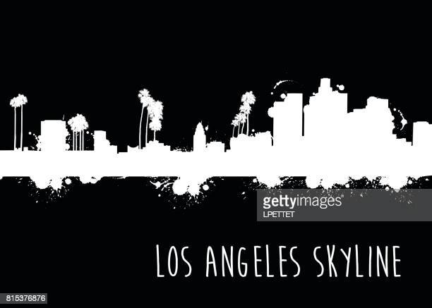 Grunge Los Angeles Skyline - Illustration