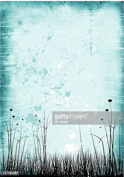 Grunge meadow background