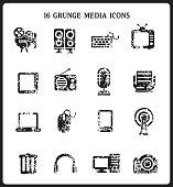 Grunge Media icons