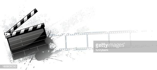 grunge movie materials - film crew stock illustrations