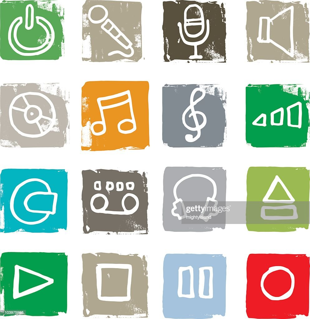 Grunge music symbols vector art getty images grunge music symbols vector art buycottarizona Gallery