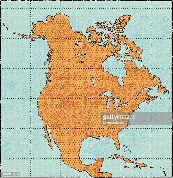 Grunge North America map