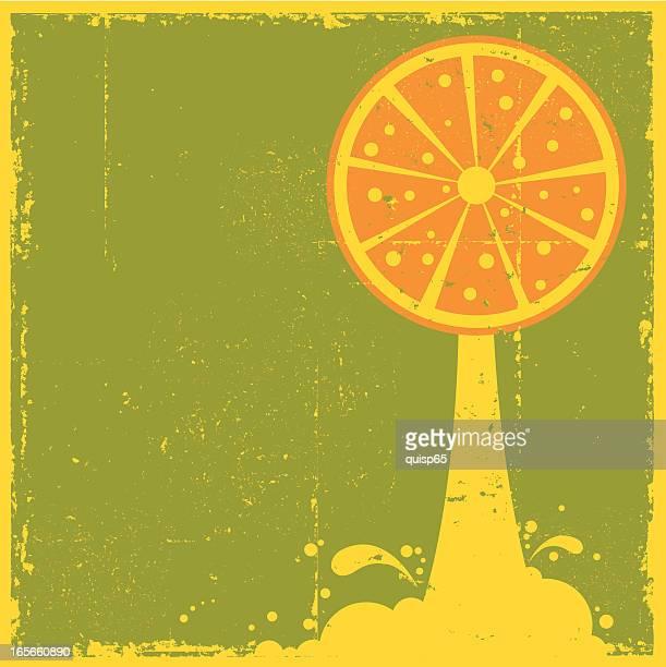 grunge orange juice - orange juice stock illustrations, clip art, cartoons, & icons