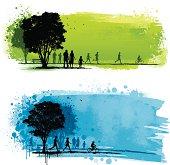 Grunge park backgrounds