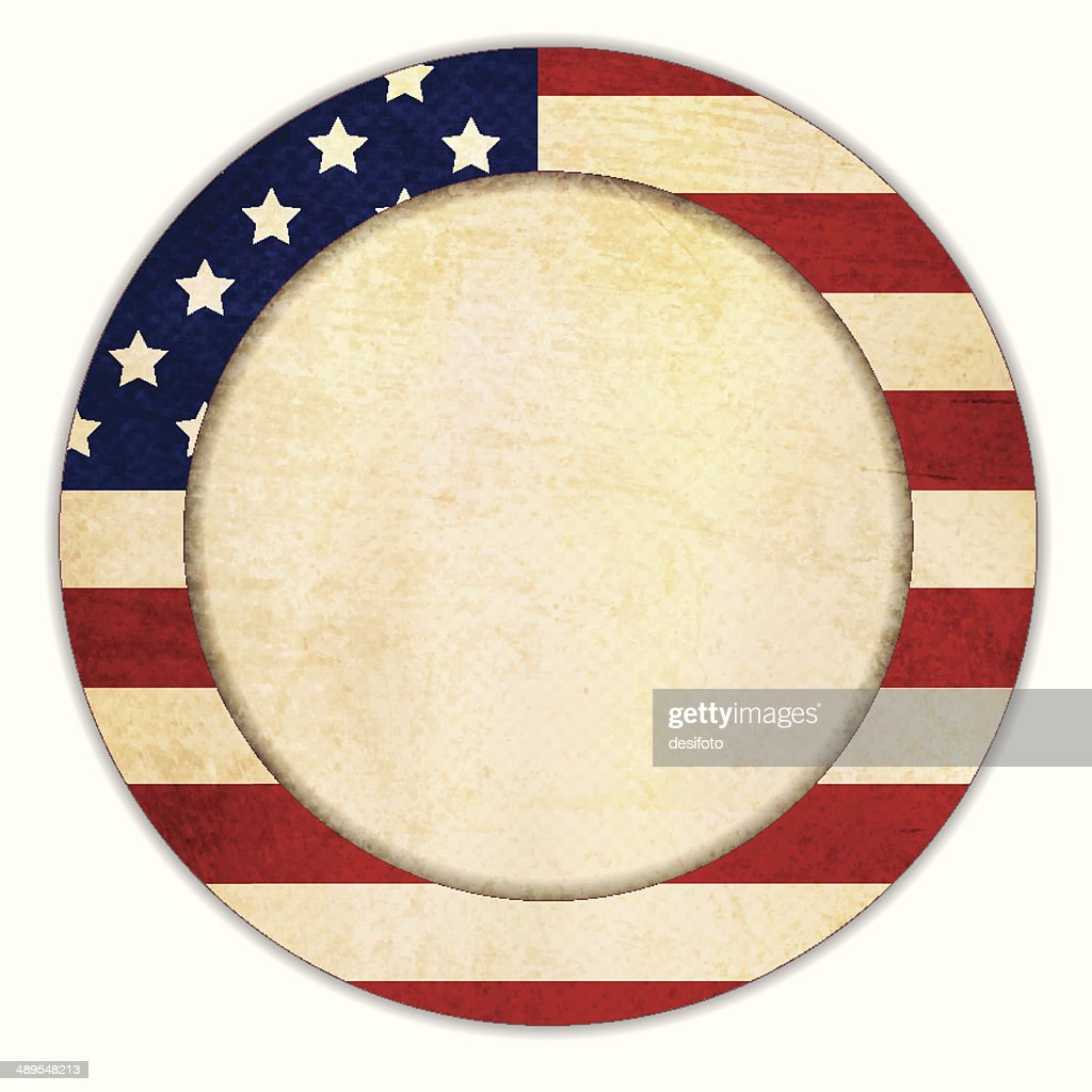 Grunge patriotic frame - Circle shape