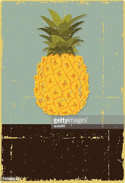 illustrations, cliparts, dessins animés et icônes de grunge symbole à l'ananas - ananas