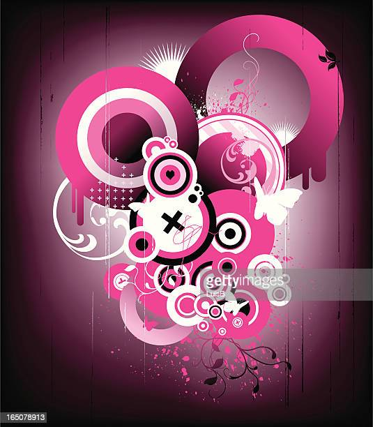 grunge pink - flare stack stock illustrations, clip art, cartoons, & icons