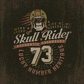 Grunge racing logo