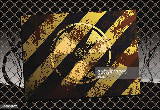 grunge radioactive danger sign - radioactive contamination stock illustrations